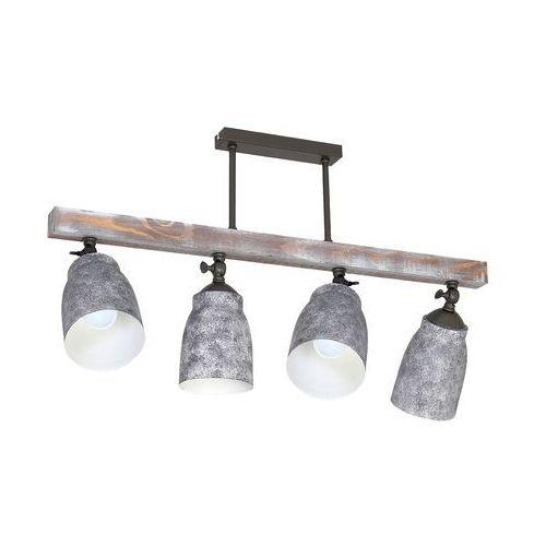 Plafon Luminex Agap 9135 lampa sufitowa 4x60W E27 brązowy / szary (5907565991352)