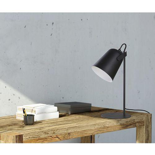 OKAZJA - Stojąca LAMPA biurkowa SIRI LP-4227/1T BLK Light Prestige metalowa LAMPKA stołowa czarna
