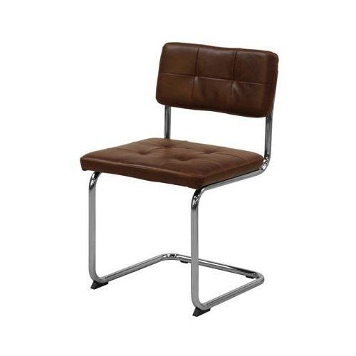 Interstil Krzesło sevilla 3, jasno-brązowe, skóra ekologiczna, chrom, 22146-3