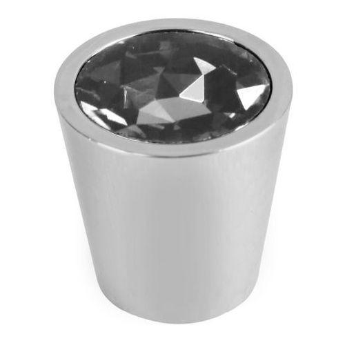 Gałka Schaffner Sofia kryształowa okrągła fi 28 mm biała
