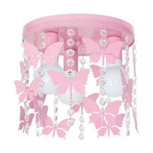 Milagro Plafon lampa oprawa sufitowa angelica 3x60w e27 jasny róż 1165 (5907565997910)