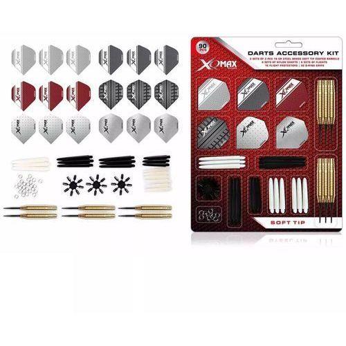 90-częściowy zestaw do rzutek softip, 18 g, qd7000710 marki Xqmax darts