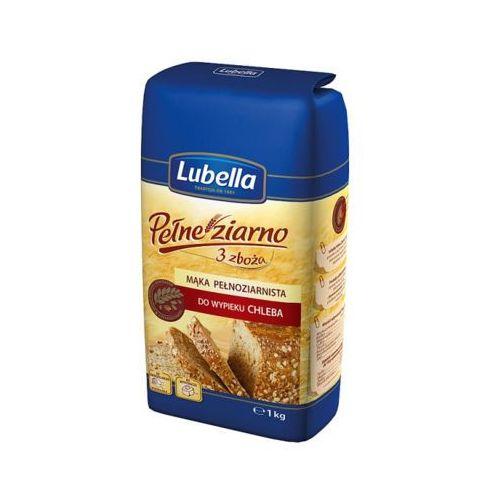 LUBELLA 1kg Pełne ziarno 3 zboża Mąka pełnoziarnista do wypieku chleba