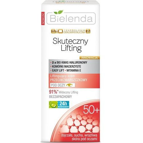 Bielenda BioTechnologia 50+ Skuteczny Lifting Liftingujący krem przeciwzmarszczkowy pod oczy 15ml (5902169010485)