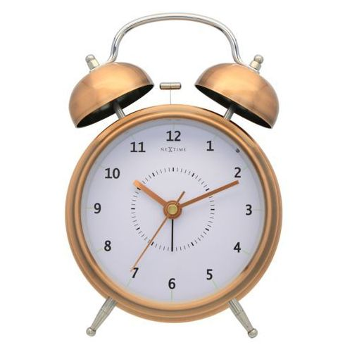 Budzik Nextime Wake Up 12 cm copper, 5112 CO