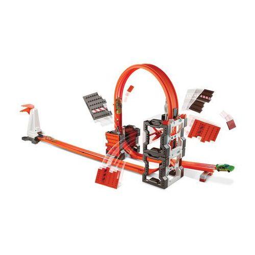 Hot Wheels, Track Builder, Szalone kraksy, zestaw torów z kategorii Tory wyścigowe