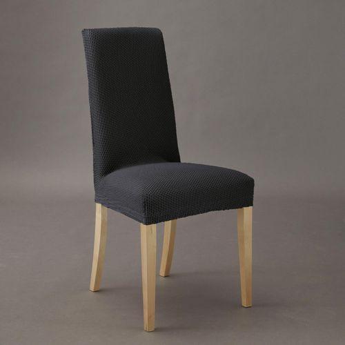 Pokrowiec na krzesło z tkaniny imitującej zamsz, rozciągliwy marki La redoute interieurs