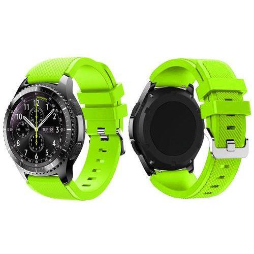 Gumowy pasek sportowy do Samsung Gear S3 karbon zielony - Zielony, kolor zielony