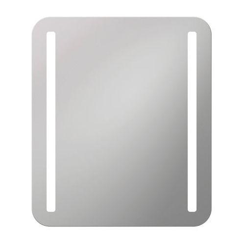 Lustro łazienkowe z oświetleniem wbudowanym LOTUS 60 x 70 DUBIEL VITRUM, kolor biały
