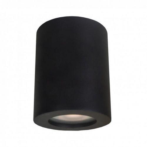 Italux Downlight lampa sufitowa fausto it8005r1-bk metalowa oprawa minimalistyczna tuba do łazienki ip44 czarna (5900644438083)