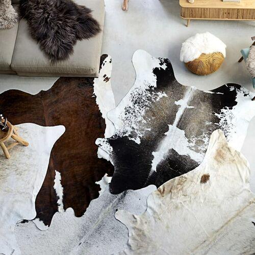 VidaXL Dywan z krowiej skóry, czarno-biały, 150x170 cm (8719883670386)