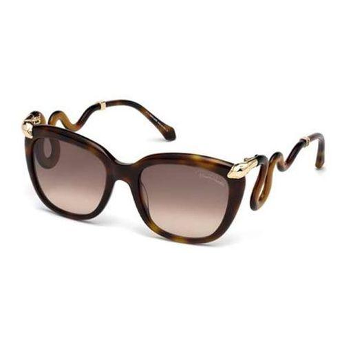 Okulary Słoneczne Roberto Cavalli RC 1038 CASTELNUOVO 52F, kolor żółty