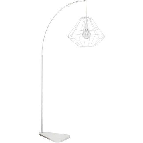 Lampa druciana stojąca podłogowa diament tk lighting diamond 1x60w e27 biała 3008 marki Tklighting