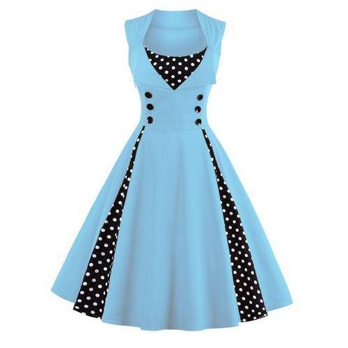 Polka dot prom midi dress, Rosegal