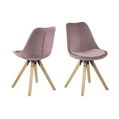 Krzesło Dima VIC dusty rose/wood, 112329