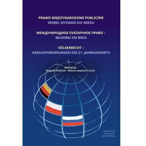 Prawo międzynarodowe publiczne wobec wyzwań XXI wieku, oprawa miękka