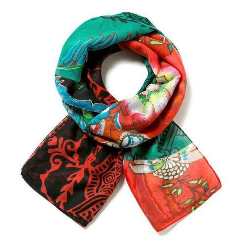 Desigual chusta damska wielokolorowy foulard