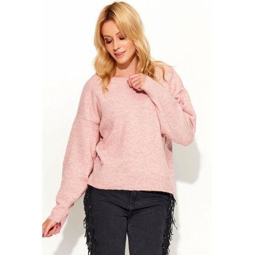 Sweter damski model s58 pink, Makadamia