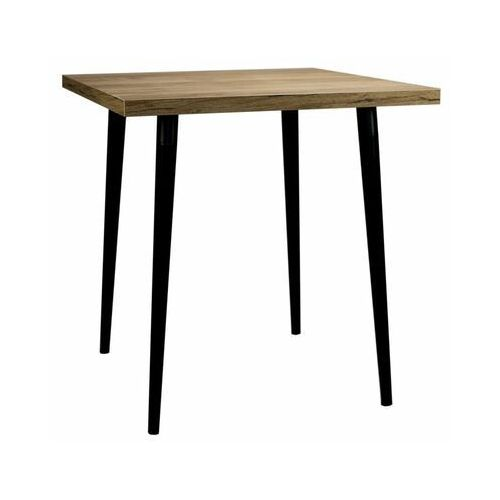 Stół kuchenny Classic 75 x 75 cm dąb/czarny