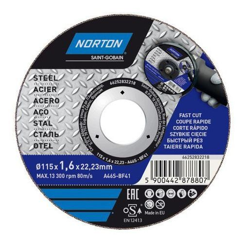 Norton Tarcza korundowa do cięcia stali 41-115 x 1 6 x 22 2 mm (5900442878807)
