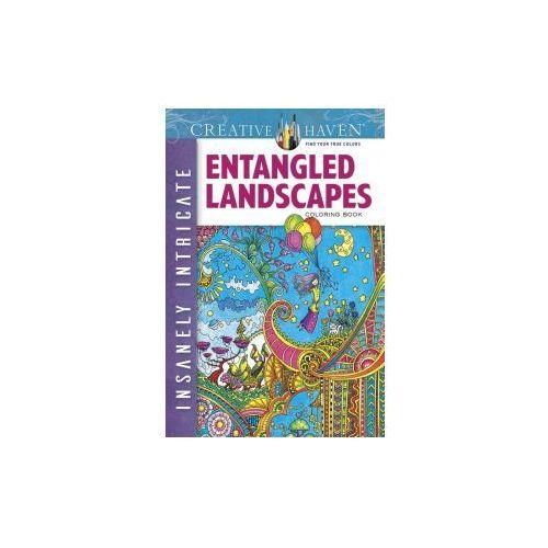 Creative Haven Insanely Intricate Entangled Landscapes Coloring Book (9780486806983)