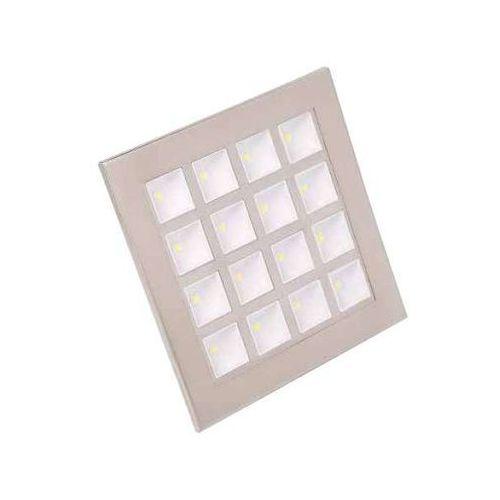 Oczko lampa sufitowa hl682l 01711 podtynkowa oprawa led 16w kwadratowy wpust satyna marki Ideus
