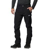 Softshelowe spodnie męskie zenon softshell pants men black - 52, Jack wolfskin