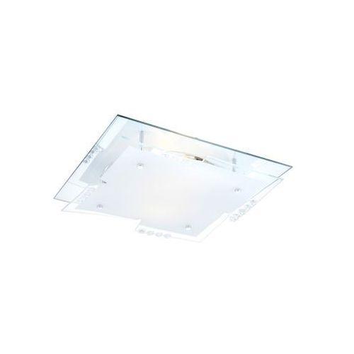 Plafon oprawa lampa sufitowa dubia 2x60w e27 kwadrat biały/przezroczysty 48074-2 marki Globo