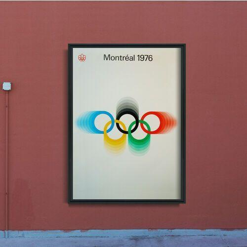 Plakat vintage do salonu plakat vintage do salonu igrzyska olimpijskie w montrealu marki Vintageposteria.pl