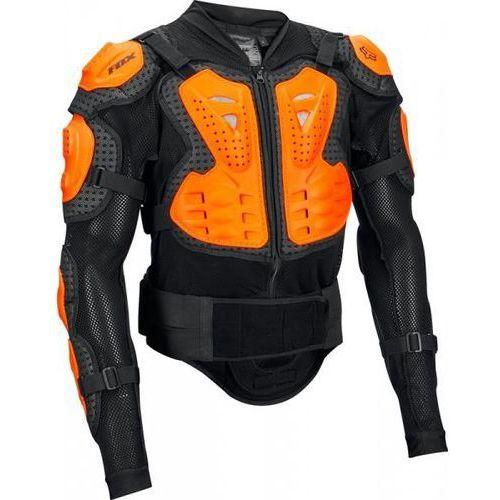Koszulka z ochraniaczami titan sport black-orange marki Fox
