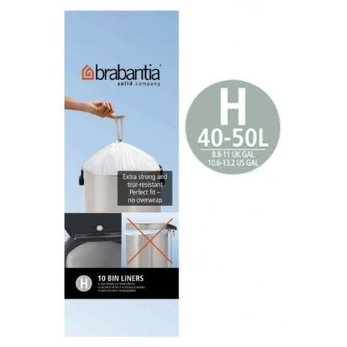 Brabantia - worki na śmieci - rozmiar h – 50l - 60 l - 10 szt