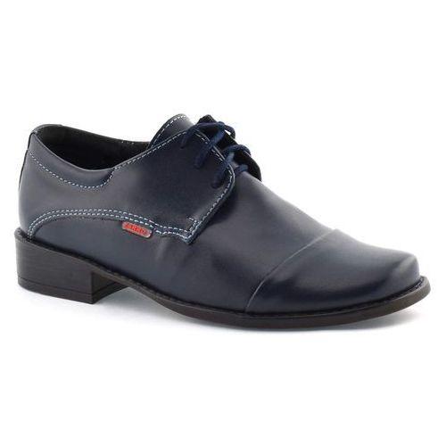 Buty komunijne dla chłopca 2073 - granatowy marki Zarro