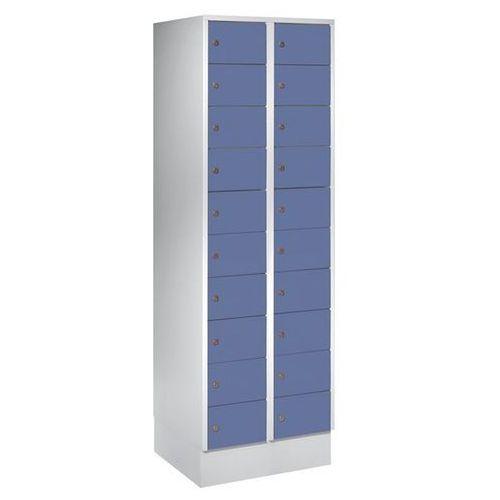 Szafa z małymi schowkami, 20 półek, wys. x szer. 1850x600 mm, kolor drzwi: szaro marki Eugen wolf