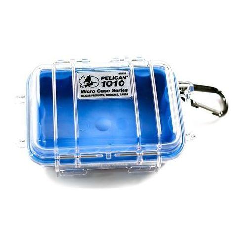 Peli  1010 mikro skrzynia / niebieska-przeźroczysta