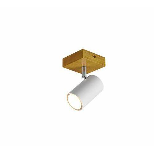 Trio Marley 812400131 plafon lampa sufitowa 1x35W GU10 biały mat/drewno, kolor Biały