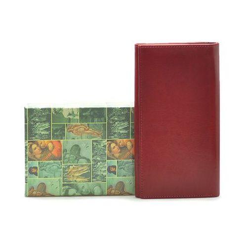 Barberini's Portfel damski h17 czerwony lico
