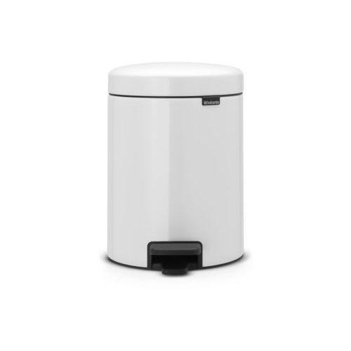 Brabantia - Kosz NewIcon - 5 l - plastikowe wiadro i wolnoopadająca pokrywa - biały - biały