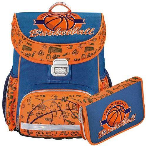 zestaw szkolny tornister + piórnik z wyposażeniem / basketball - basketball marki Hama