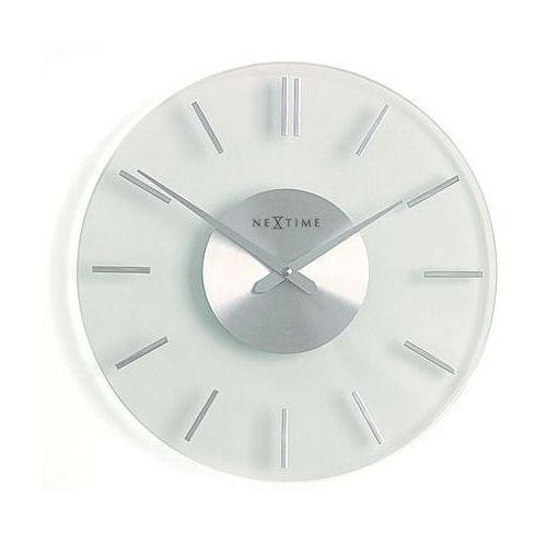 Nextime Zegar ścienny stripe - przeźroczysty - różne rozmiary - 31 cm