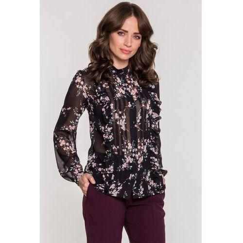 Kwiecista bluzka z falbanami - marki Tova