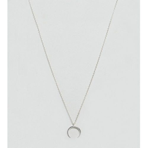 Designb london sterling silver crescent necklace - silver