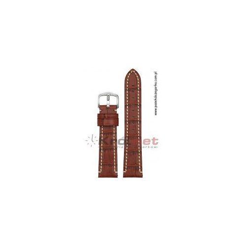 Pasek Hirsch Knight 20 mm - brązowy, przeszywany