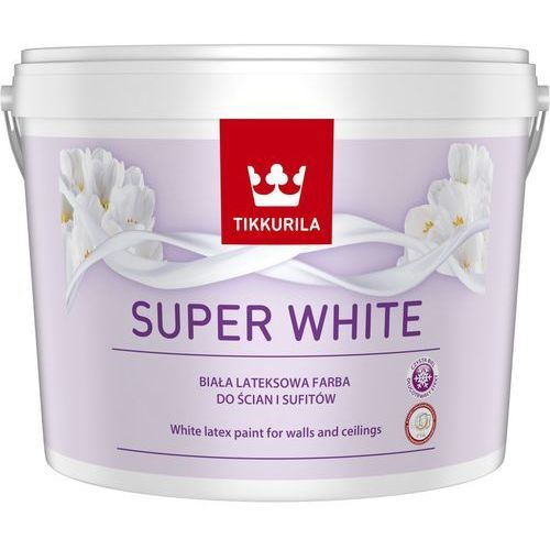 Farba lateksowa Tikkurila Super White 10 l, kolor biały