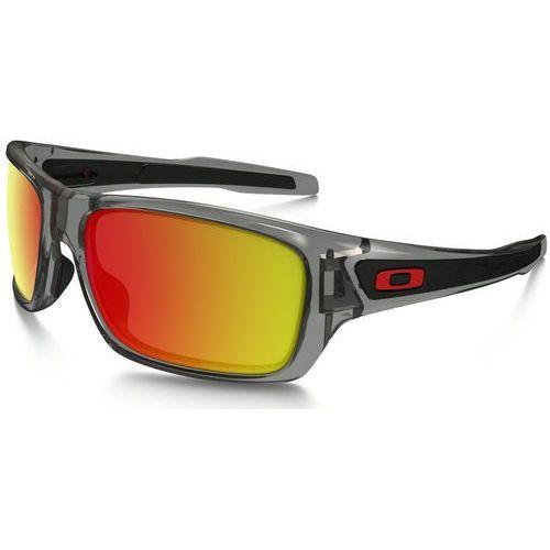 turbine okulary rowerowe szary/pomarańczowy 2018 okulary sportowe marki Oakley