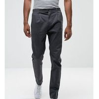 tall tapered fit trouser with pleat detail - grey marki Selected homme