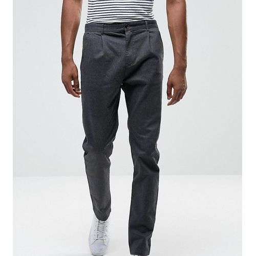 tall tapered fit trouser with pleat detail - grey, Selected homme