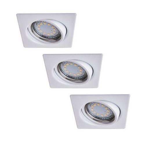 Rabalux Oczko lampa sufitowa oprawa wpuszczana lite 3x50w gu10 biały 1055 (5998250310558)