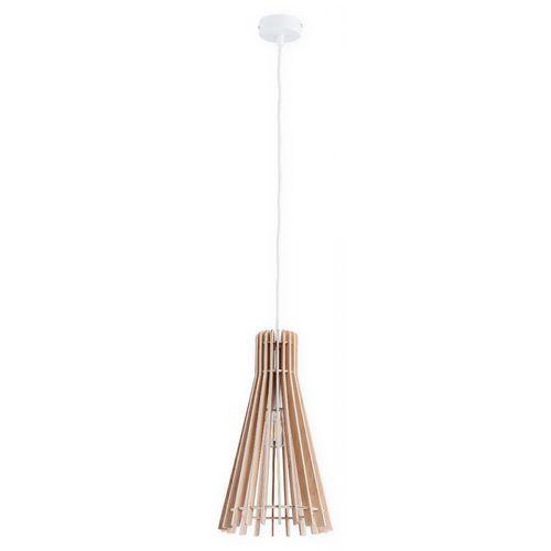 Lemir Arana O2601 NAT + BIA lampa wisząca zwis 1x60W E27 brązowy / biały (5902082867302)