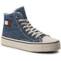 Tenisówki TOMMY JEANS - Hightop Tommy Jeans Sneaker EM0EM00287 Denim 404, w 7 rozmiarach
