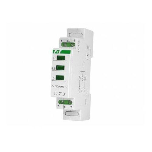 F&f Lampka modułowa na szynę 3-fazowa 3x230v zielona lk-713g